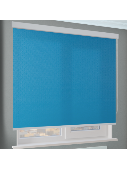 Кассетные рулонные шторы Benthin М Ажур темно-голубой