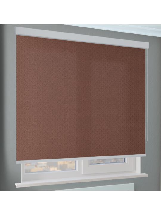Кассетные рулонные шторы Benthin М Ажур светло-коричневый