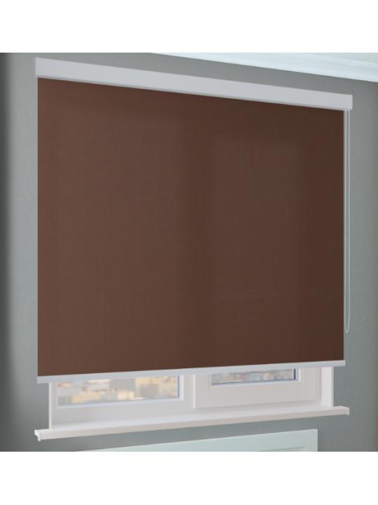 Кассетные рулонные шторы Benthin М Альфа темно-коричневый