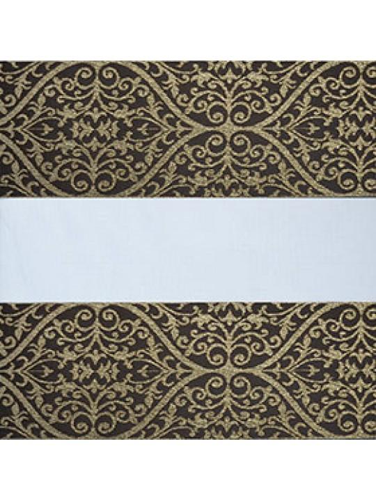 Рулонные жалюзи Зебра Уни-2 Бергама коричневый