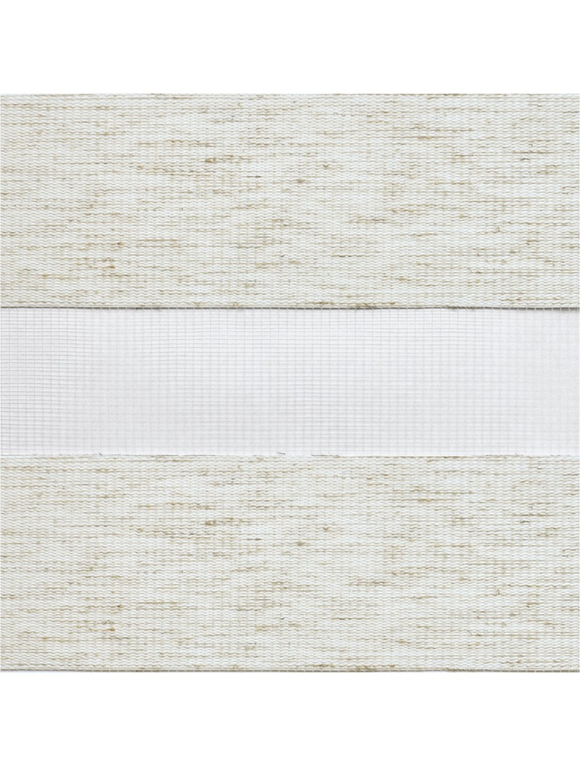Рулонные жалюзи Зебра Уни-2 Сахара белый лён