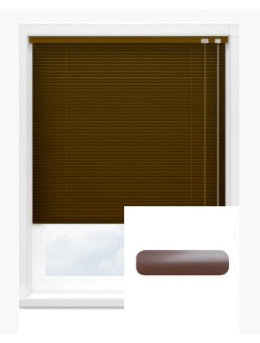 Автоматические горизонтальные алюминиевые жалюзи 16 мм коричневый