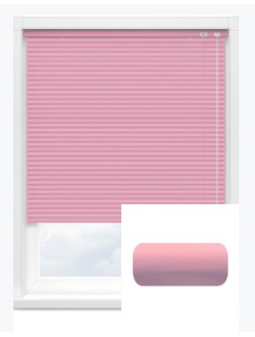 Автоматические горизонтальные алюминиевые жалюзи 25 мм ярко-розовый