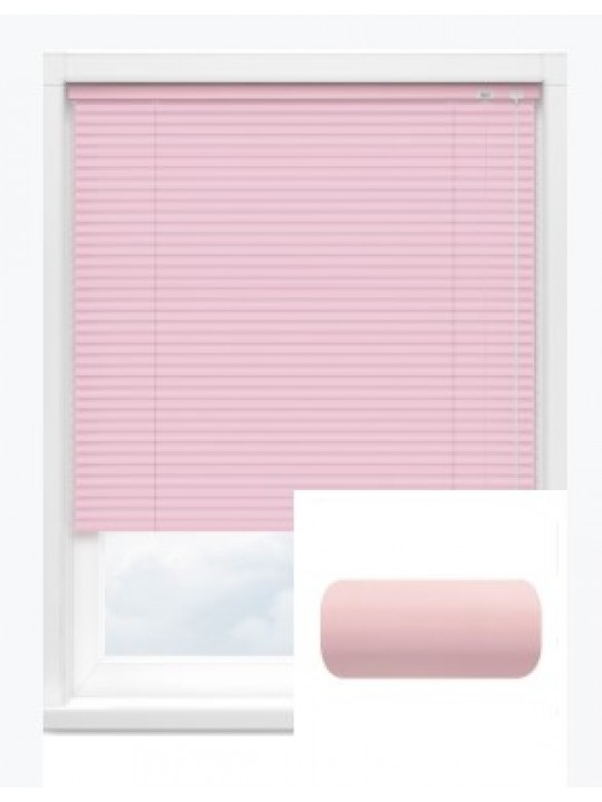 Автоматические горизонтальные алюминиевые жалюзи 25 мм розовый
