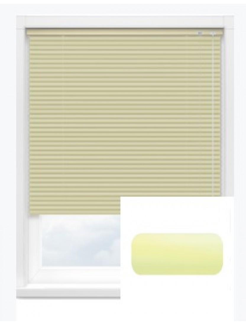 Автоматические горизонтальные алюминиевые жалюзи 25 мм св. желтый
