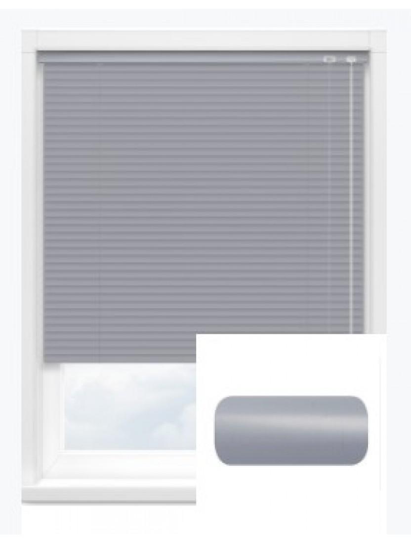 Автоматические горизонтальные алюминиевые жалюзи 25 мм серый