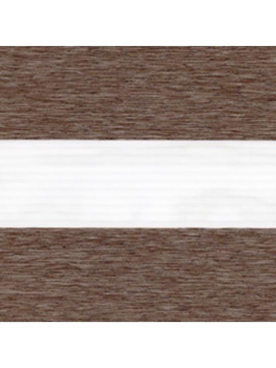 Кассетные шторы Зебра Benthin М Лофт коричневый