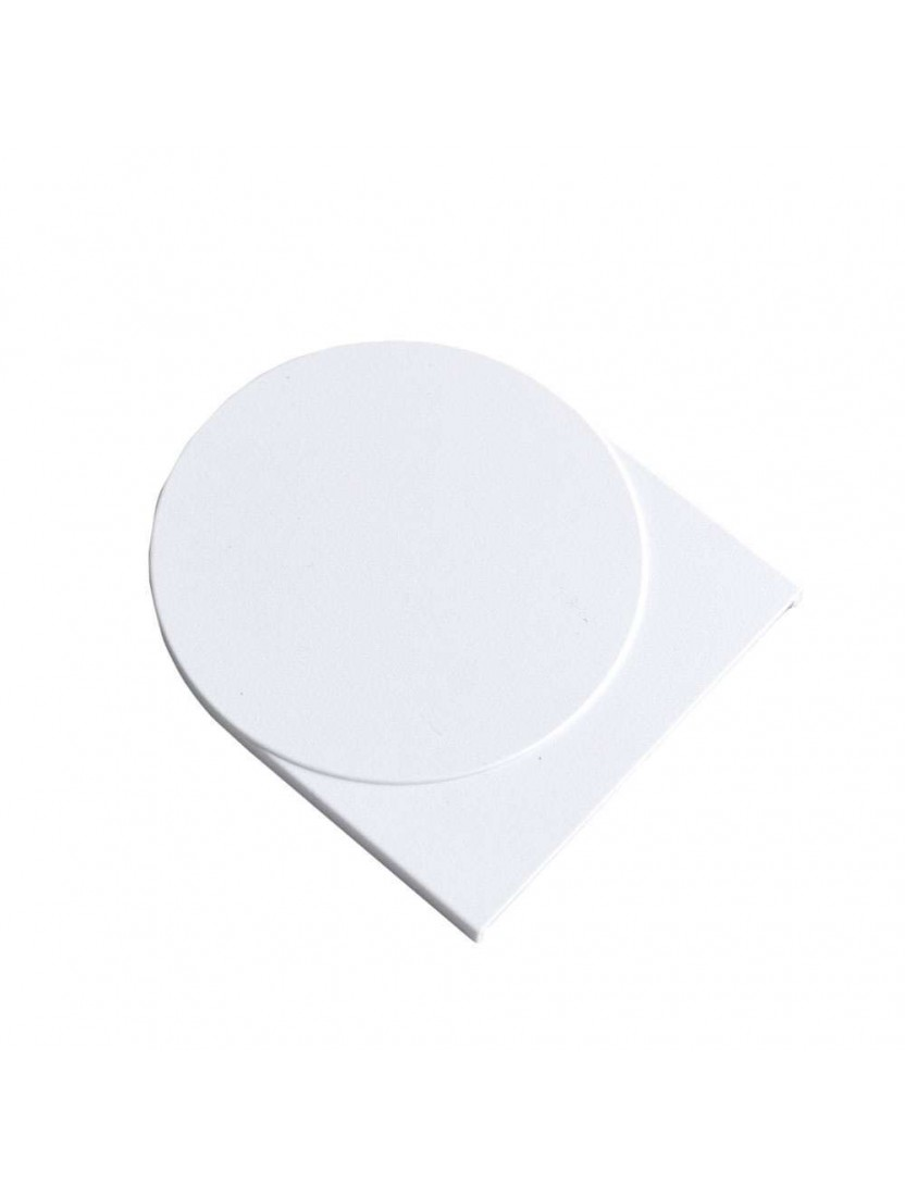 Крышка кронштейна плоская 55х36 мм (Benthin М), белая