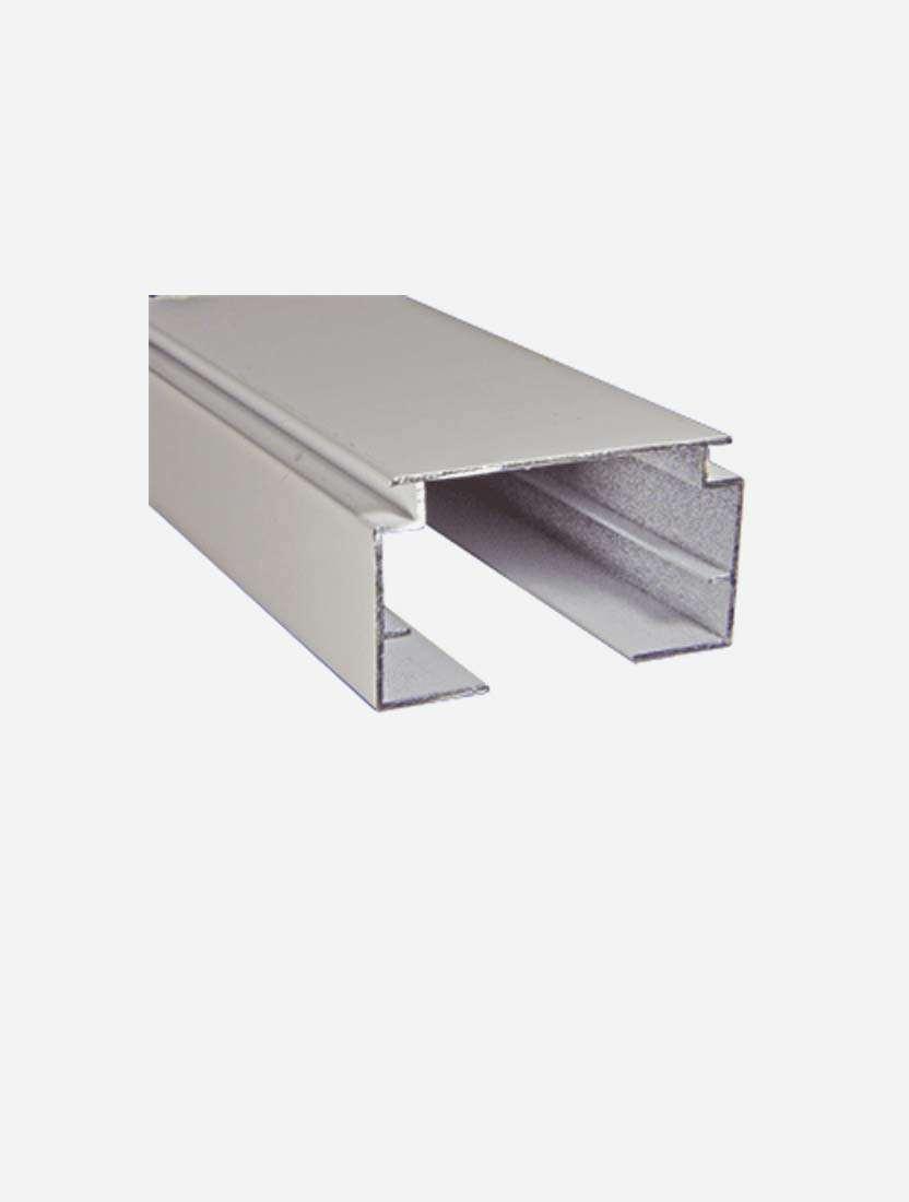 Профиль карниз для вертикальных жалюзи алюминиевый, белый, 34, 6м