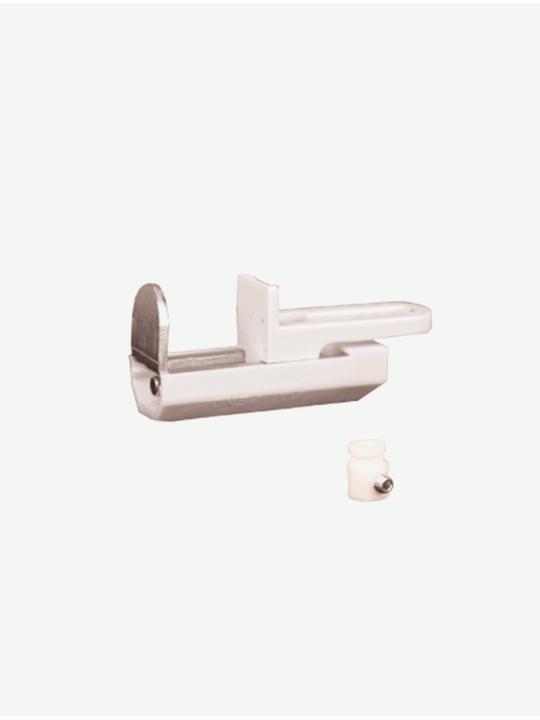 Кронштейн для окон ПВХ нижний для горизонтальных жалюзи с боковой фиксацией