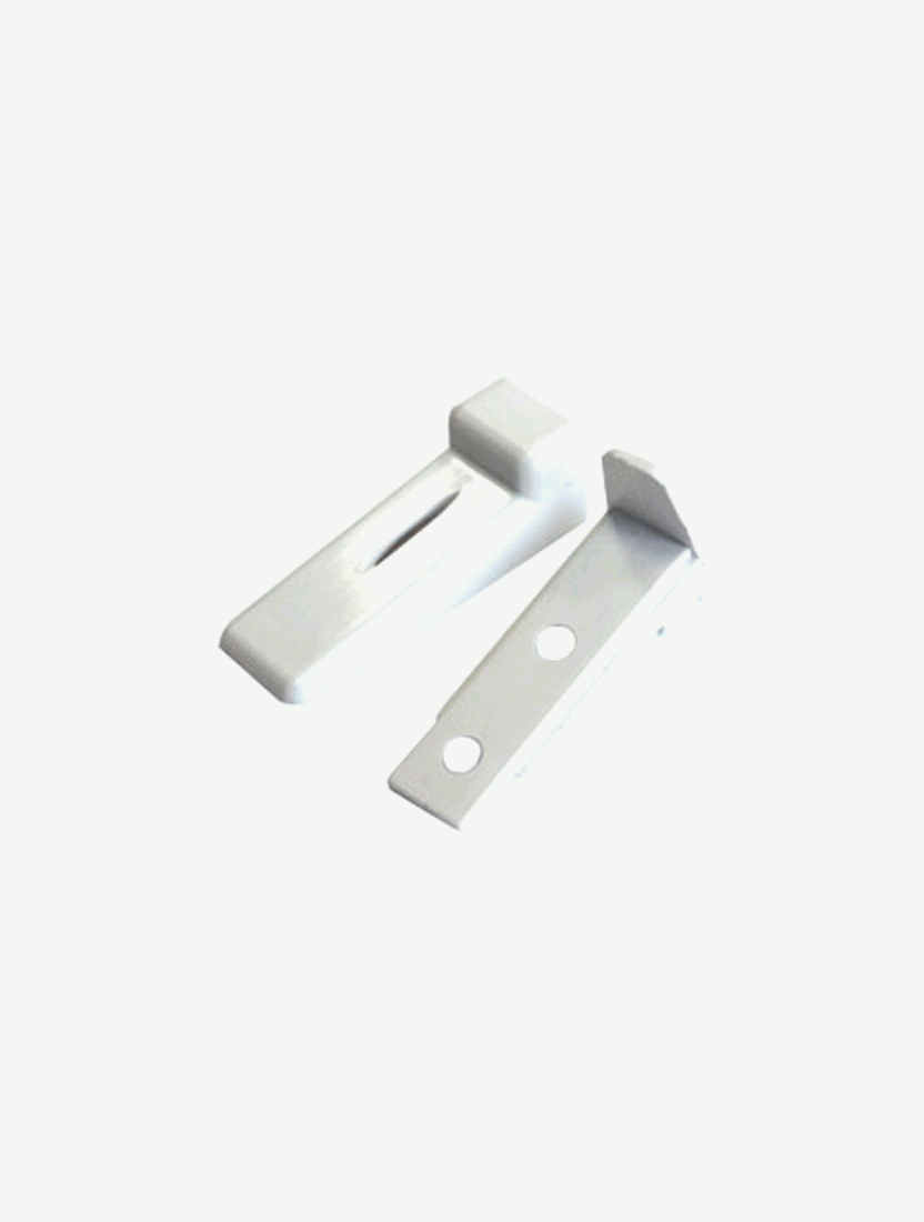 Кронштейн нижний пластиковый для лески белый