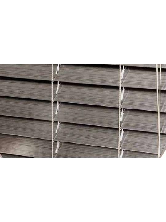Горизонтальные деревянные жалюзи 25 мм Серебро патина