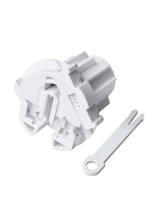Заглушка в трубу 43 мм регулируемая (для серии L), белая