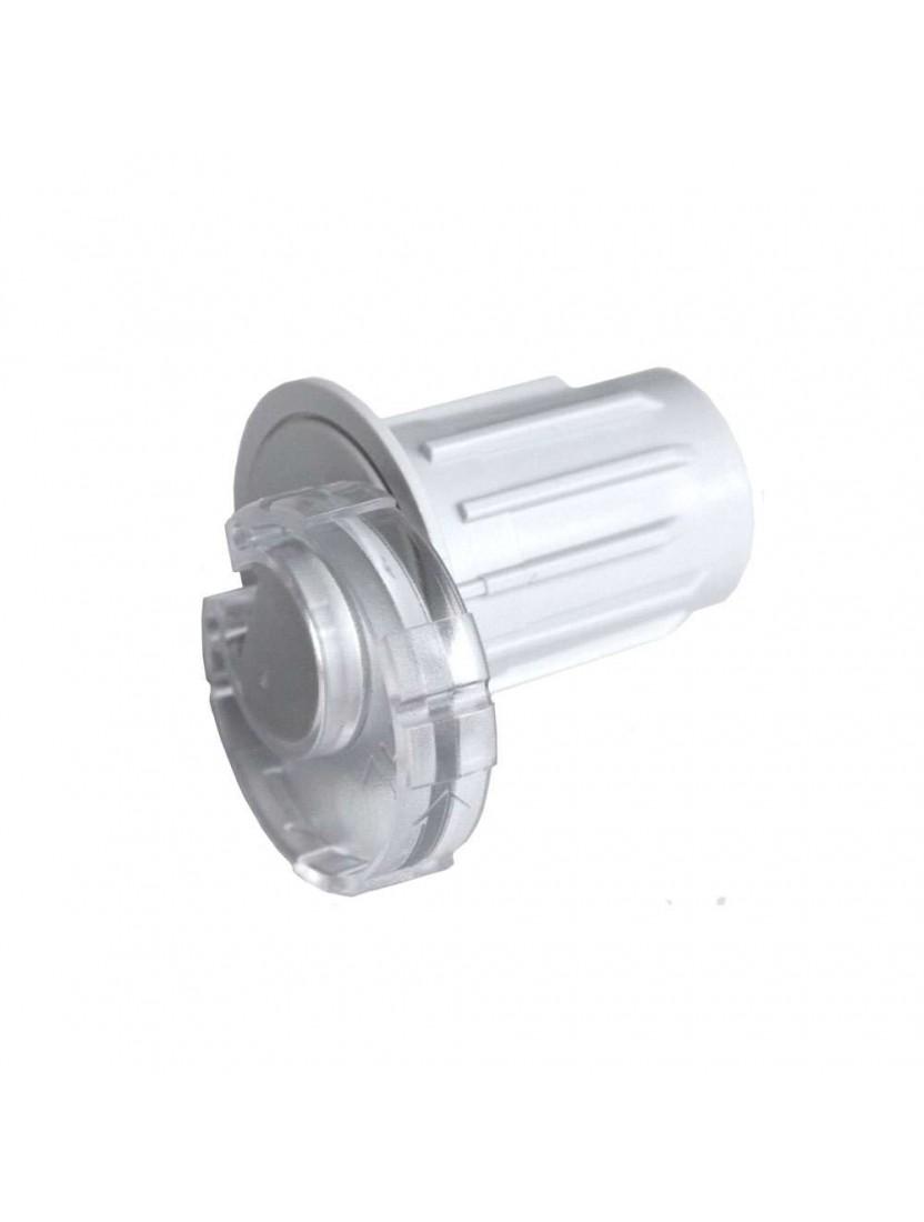 Заглушка в трубу 29 мм с фиксатором (для серии M), серая