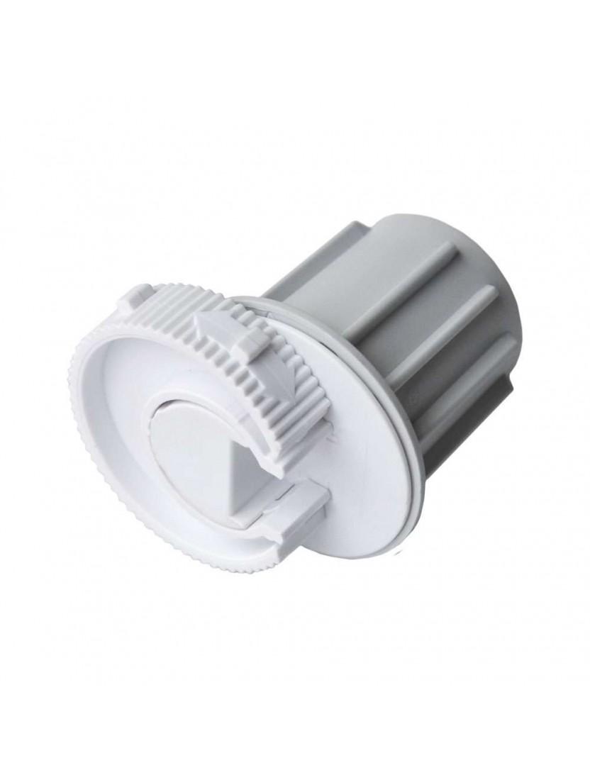 Заглушка в трубу 43 мм с фиксатором (для серии L), белая
