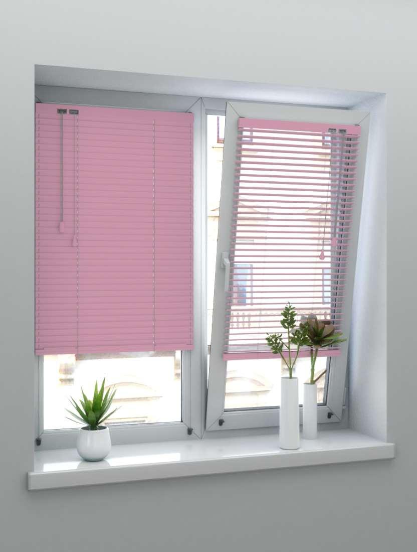Горизонтальные алюминиевые жалюзи Венус темно-розовый металлик