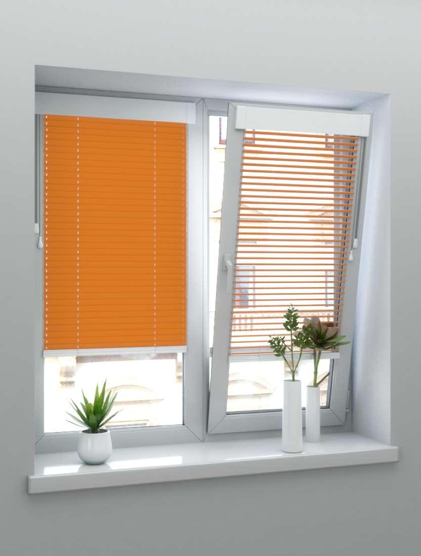 Горизонтальные алюминиевые жалюзи Венус оранжевые