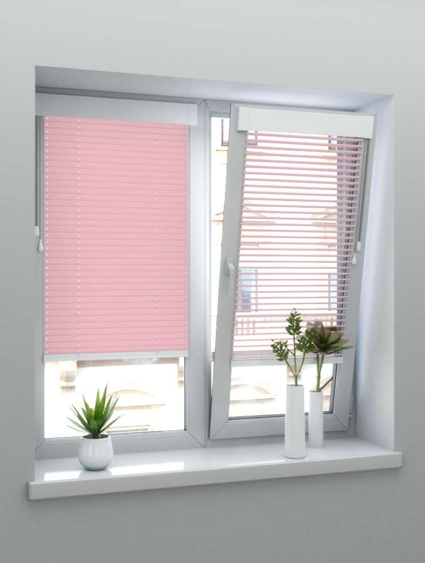 Горизонтальные алюминиевые жалюзи Венус розовые