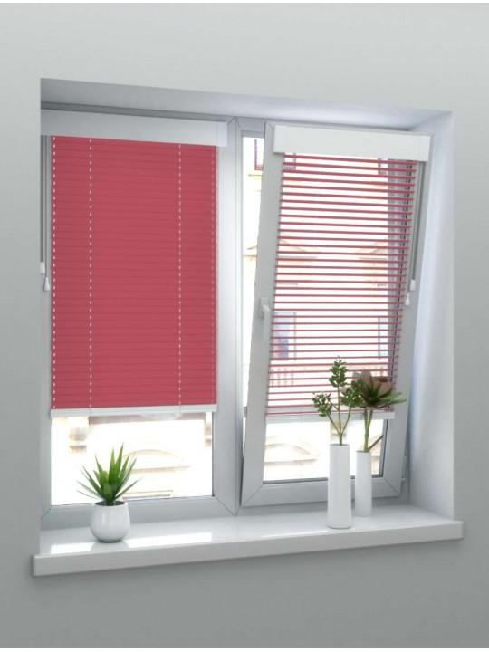 Горизонтальные алюминиевые жалюзи Венус красно-розовые