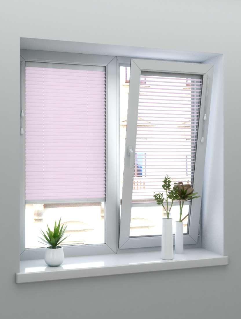 Горизонтальные алюминиевые жалюзи светло-розовый