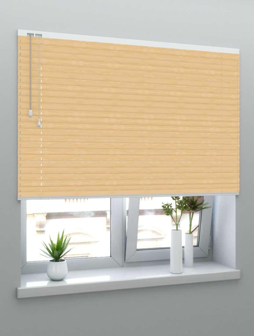 Горизонтальные бамбуковые жалюзи 50 мм натуральный