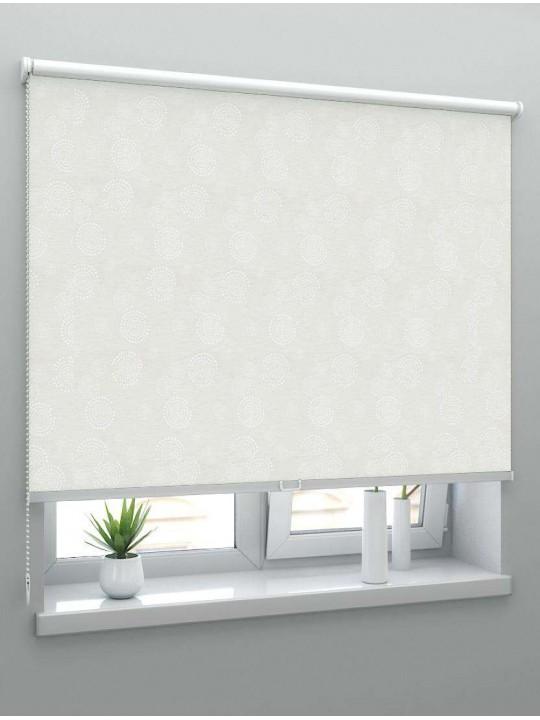 Рулонные шторы Louvolite Орбита блэкаут белый