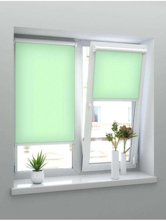 Минирулонные тканевые жалюзи Альфа зеленые