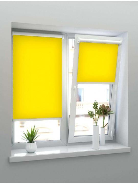 Минирулонные тканевые жалюзи Альфа ярко-желтый