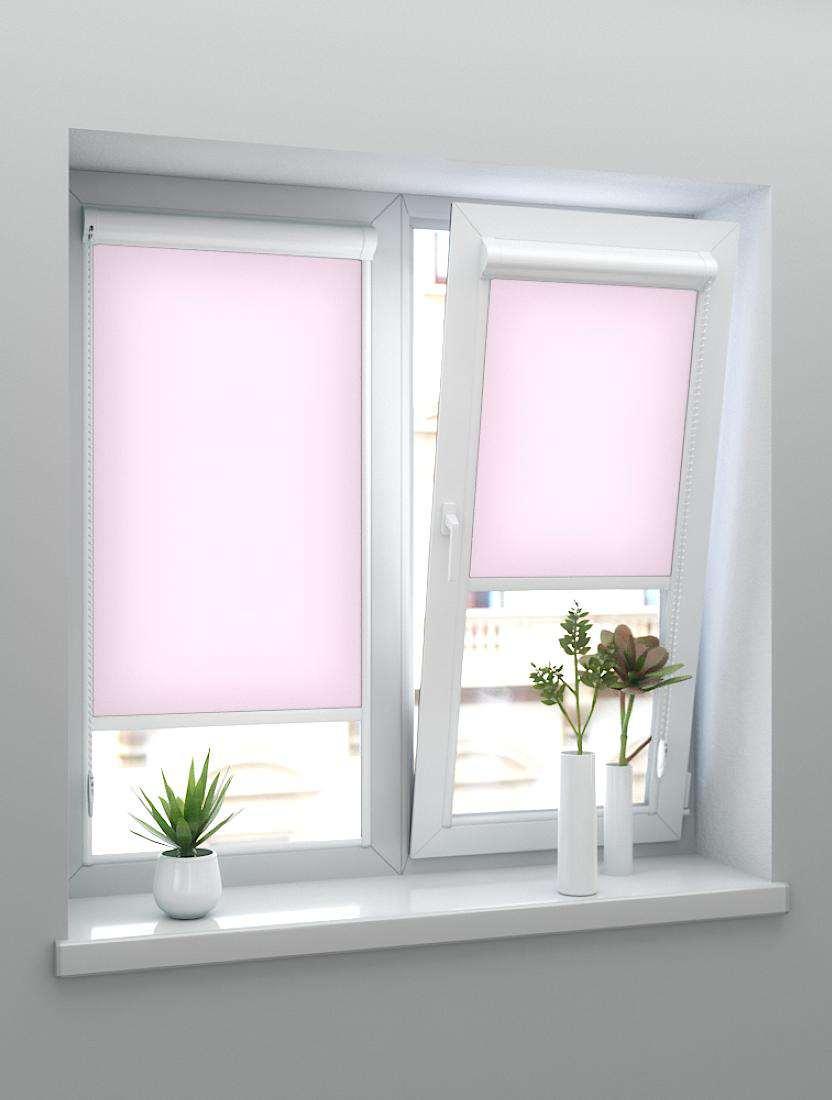 Рулонные тканевые жалюзи Уни-1 Челси розовый