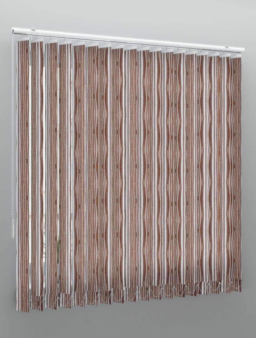 Вертикальные веревочные жалюзи Бриз темно-коричневый