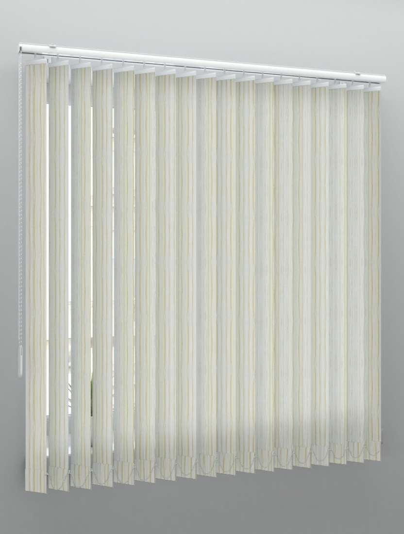Вертикальные веревочные жалюзи Бриз Double белый