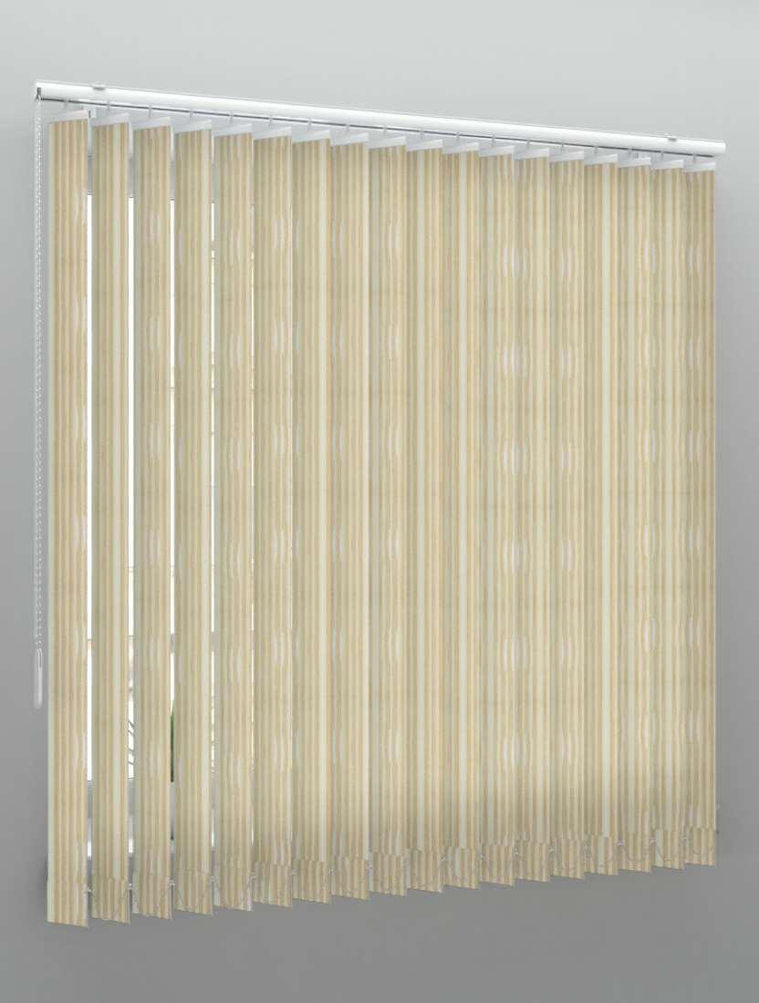 Вертикальные веревочные жалюзи Бриз Multi светло-бежевый