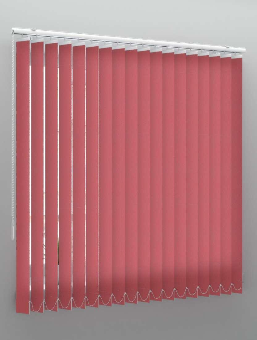 Вертикальные тканевые жалюзи Сиде красный