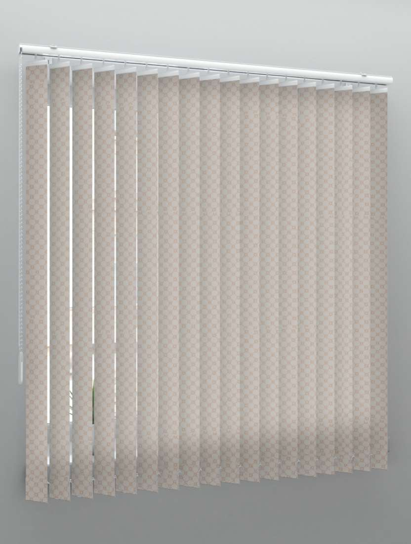 Вертикальные тканевые жалюзи Виктория светло-коричневый