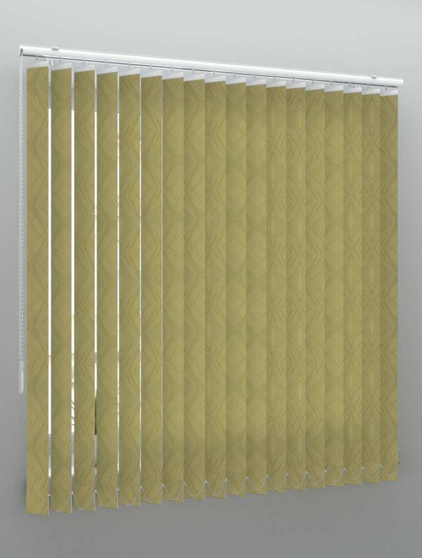 Вертикальные тканевые жалюзи Венера техно золото
