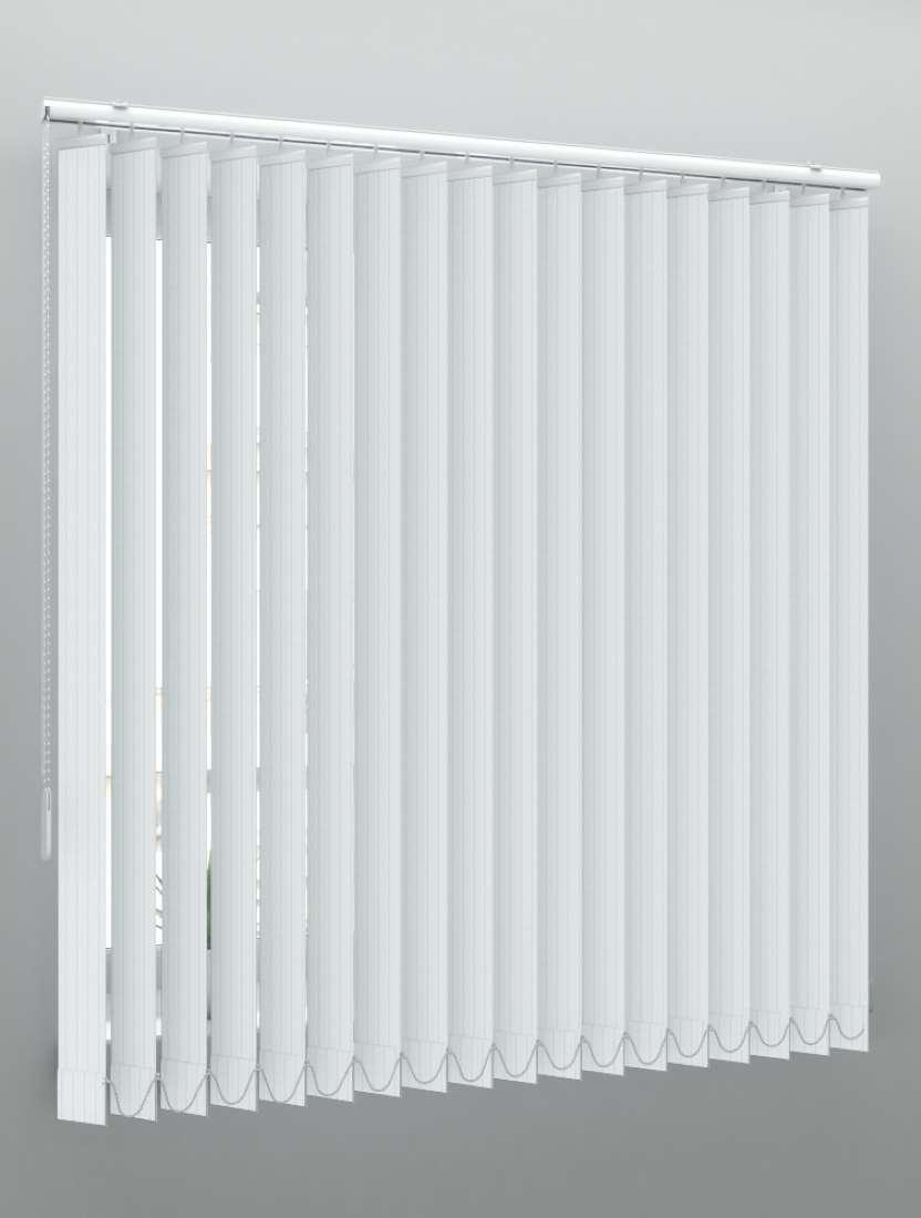 Вертикальные пластиковые жалюзи Рибкорд белый