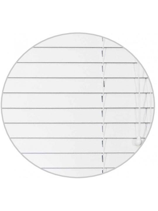 Горизонтальные деревянные жалюзи 50 мм Белый