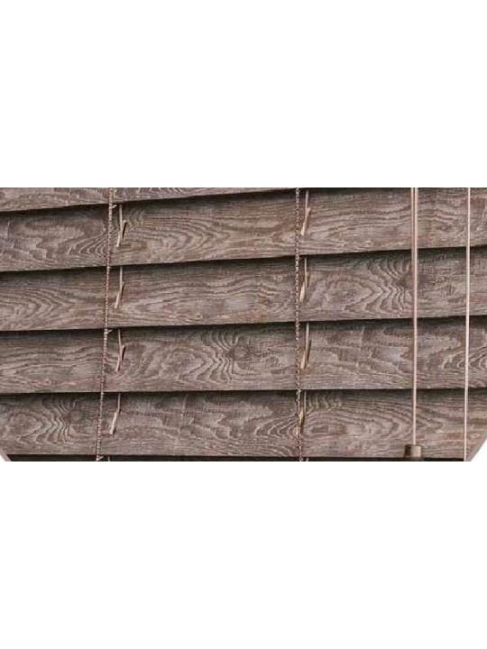 Горизонтальные деревянные жалюзи 25 мм Мореный дуб