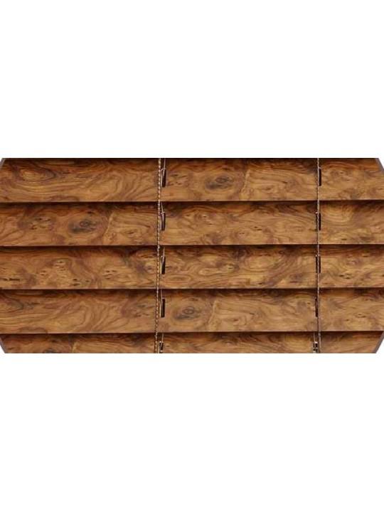 Горизонтальные деревянные жалюзи 50 мм Радика орех