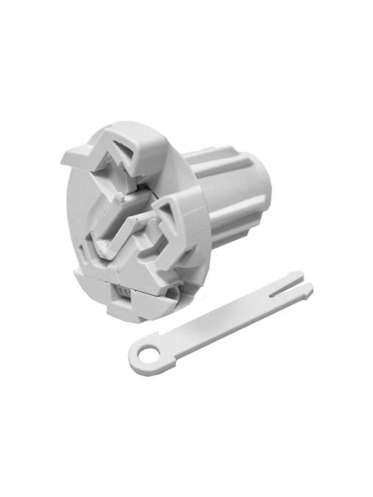 Заглушка в трубу 29 мм регулируемая (для серии М), серая