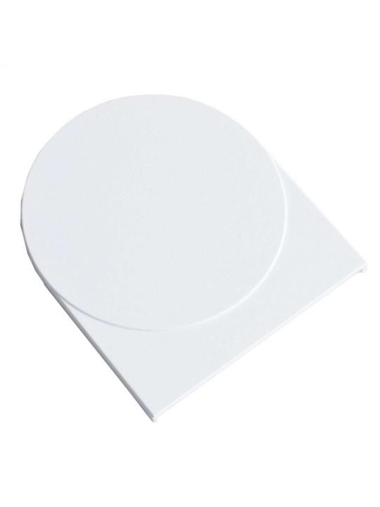 Крышка кронштейна плоская 91х51 мм м. проф. (Benthin L), белая