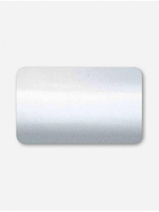 Горизонтальные алюминиевые жалюзи 50 мм серебро металлик
