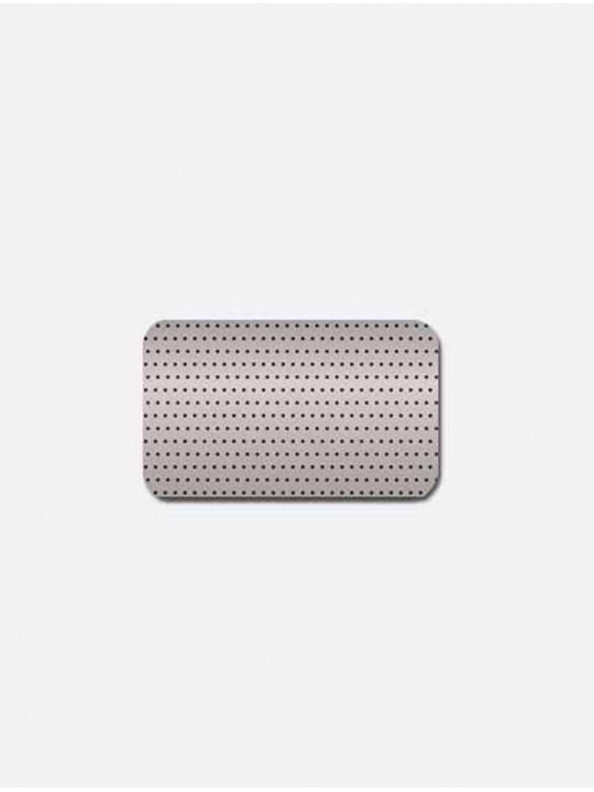 Горизонтальные алюминиевые жалюзи серебро перфорация