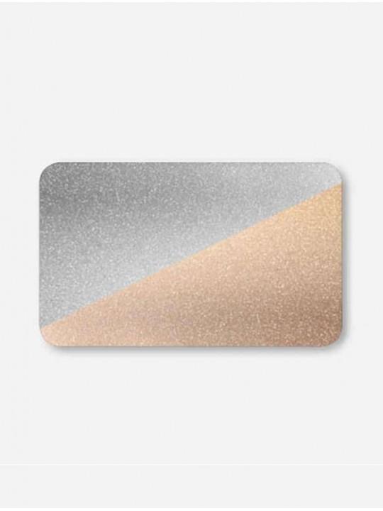 Горизонтальные алюминиевые жалюзи золото-серебро металлик