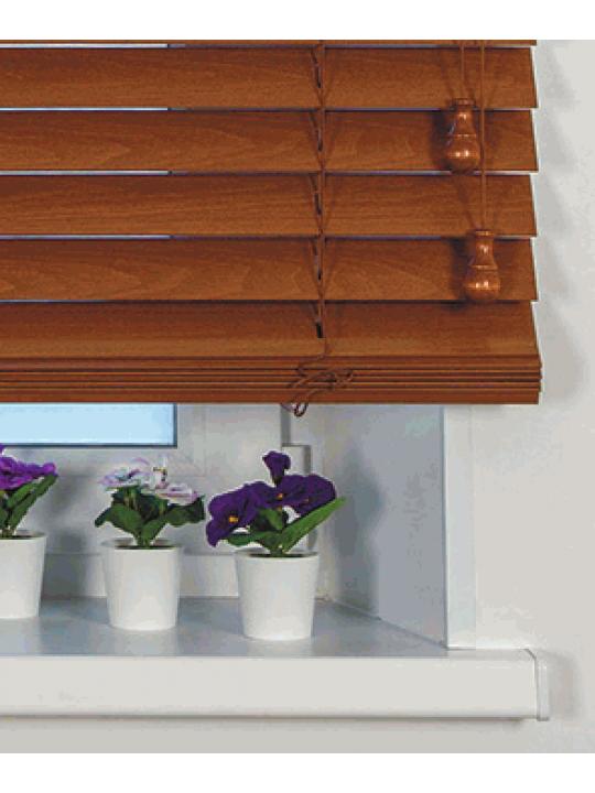 Горизонтальные деревянные жалюзи 50 мм Какао