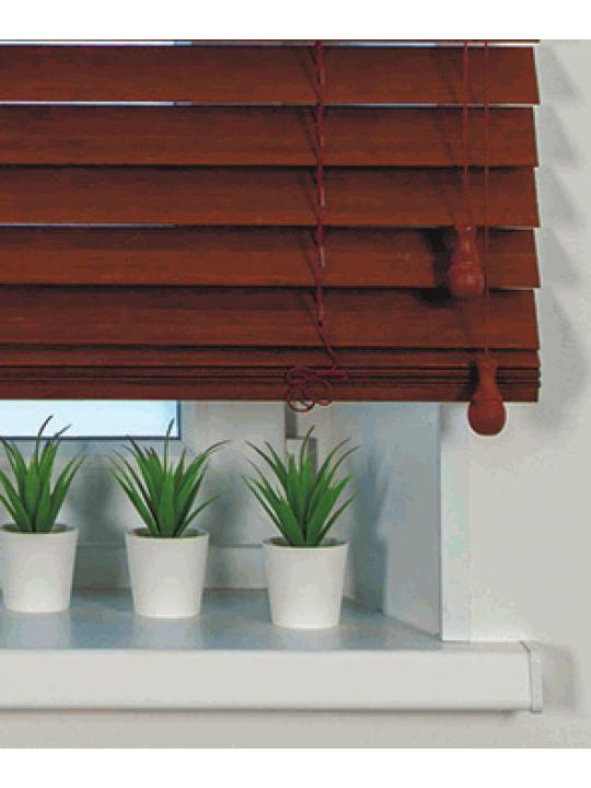 Горизонтальные деревянные жалюзи 50 мм Орех