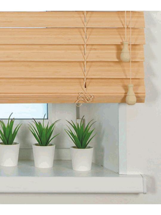 Горизонтальные бамбуковые жалюзи 50 мм Белый