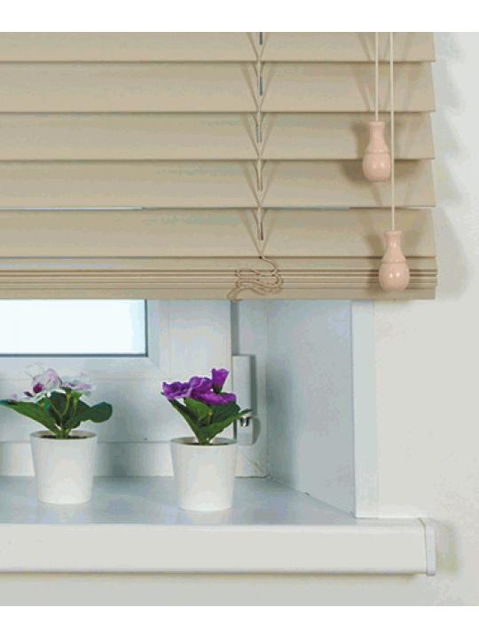 Горизонтальные деревянные жалюзи 50 мм Кремовый