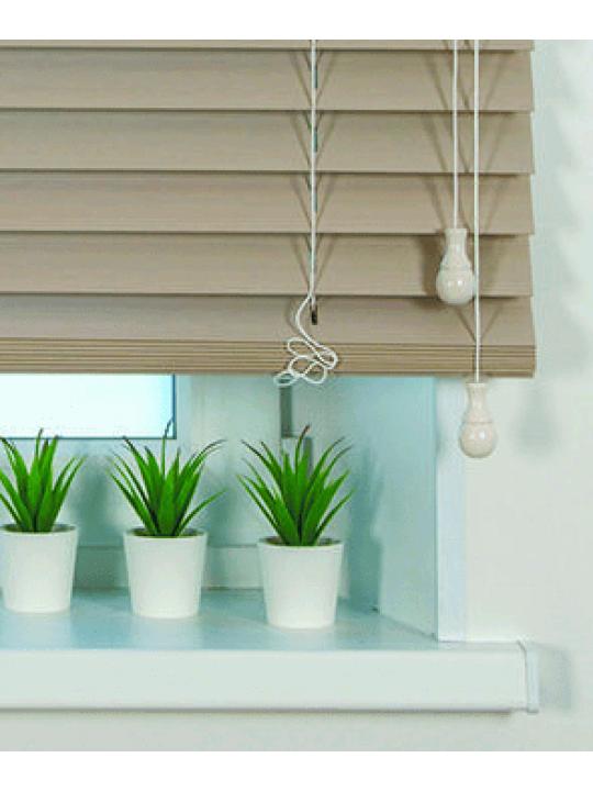 Горизонтальные бамбуковые жалюзи 50 мм Песочный