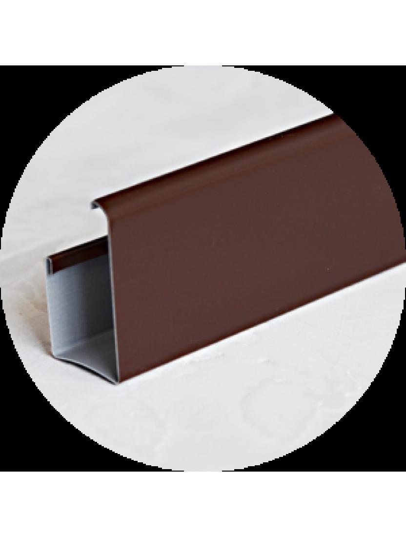 Карниз верхний (ГКС) 4м, коричневый